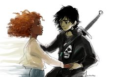 """""""You're my sister, too. You deserve another chance."""" Nico saving Hazel from the Underworld. D'awwww!"""