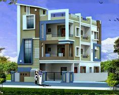Bungalow House Design, House Front Design, Modern House Design, Duplex House, Front Elevation Designs, House Elevation, Building Elevation, House Paint Exterior, Exterior House Colors