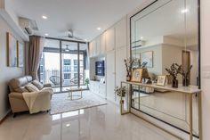 Use Glass & Mirror Walls for a Brighter, More Spacious Home Mirror Decor Living Room, Condo Living Room, House Rooms, Wall Decor, Wall Art, Home Room Design, Dining Room Design, Mirror Walls, Wall Mirror Design