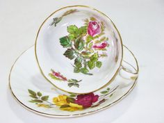 Vintage Royal Chelsea Bone China English Moss by BonAppetitAntique