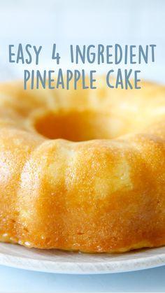 Pineapple Desserts, Pineapple Recipes, Pineapple Cake, Pineapple Upside, Cake Mix Recipes, Baking Recipes, Angle Food Cake Recipes, Cake Mixes, How Sweet Eats