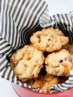 Can you imagine anything better than these Pretzel Chocolate Chip Cookies? Everyone will be dying for your recipe.