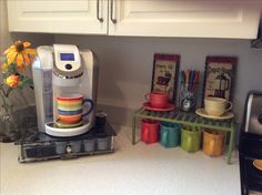 Coffee Corner is a place to indulge my coffee rituals and enjoy my Fiesta mugs and cups.
