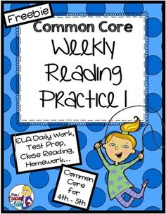 Freebie! One of a set of ten Common Core Weekly Reading Practice Sets using Informational Text. 28 page packet for 4th - 5th graders that you can use as a month's worth of close reading, test prep, reading homework, morning work, assessment, or for centers. Great for reviewing reading skills (main idea, cause and effect, inference, text structures, author's purpose, and more) using informational text in an engaging way. Topics include: The Stagecoach, Meerkats, Sarah Edmonds, and Asteroids.
