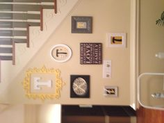 entrance wall get cheap frames and letters from michaels and acmoore spray paint and