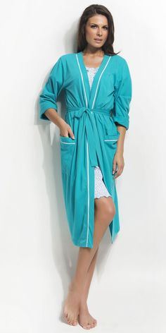 Women's Robe 100% Cotton | Robes| Vamp! Women's Robe 100% Cotton 4360 Ss 15, Shirt Dress, Natural, Shirts, Collection, Dresses, Fashion, Gowns, Moda