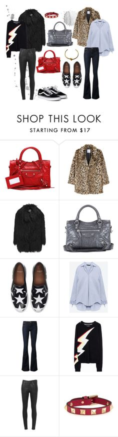 """Balenciaga complication"" by idafahlen on Polyvore featuring Balenciaga, MANGO, AINEA, Givenchy, Frame, Citizens of Humanity, Valentino and CÉLINE"