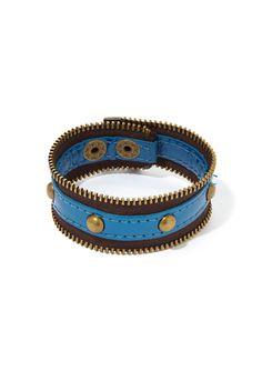 Zip-Code Zipper Bracelet