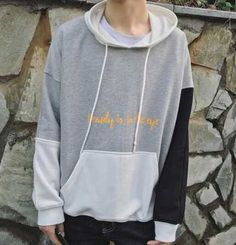 Color block hoodie with sayings for teens beauty is in the eye letter pattern