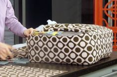 diy floor cushions...love that it uses old blankets, scraps and towels!! so much easier to stuff also