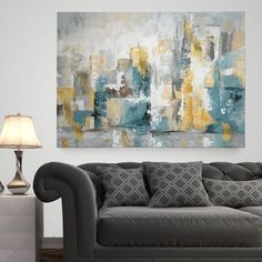 Shop for Carson Carrington City Views II' Premium Gallery Wrapped Canvas Wall Art. Get free delivery On EVERYTHING* Overstock - Your Online Art Gallery Store! Get in rewards with Club O! Abstract Canvas, Canvas Art Prints, Painting Prints, Canvas Wall Art, Painting Canvas, Buy Canvas, Large Canvas, Painting Abstract, Large Art