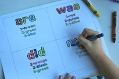Color by # sight words.