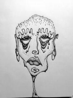 Indie Drawings, Cool Art Drawings, Art Drawings Sketches, Art Journal Inspiration, Art Inspo, Arte Grunge, Trash Art, Art Diary, Pretty Art