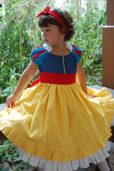Items similar to Princess Snow White Costume Dress Calico Princess Collection by Ollie Girl 12 months - Custom Boutique Disneybounding on Etsy
