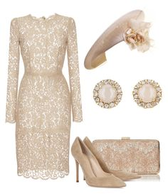"""""""Без названия #2776"""" by claire-hamilton-bristol ❤ liked on Polyvore featuring Dolce&Gabbana, Philip Treacy, Gianvito Rossi and Kate Spade"""