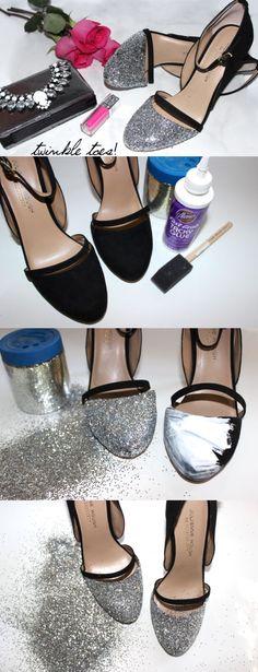 glitter heels diy