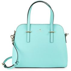 Kate Spade New York Maise Leather Dome Bag (385 CAD) ❤ liked on Polyvore featuring bags, handbags, shoulder bags, atoll blue, leather shoulder handbags, blue handbags, dome purse, leather handbags and kate spade handbag