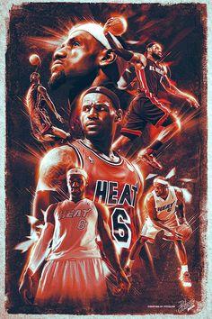 Lebron James - NBA by Caroline Blanchet, via Behance
