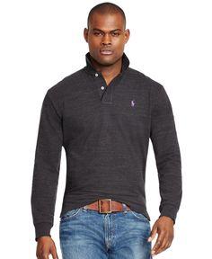 Polo Ralph Lauren Long-Sleeved Classic-Fit Mesh Polo Shirt