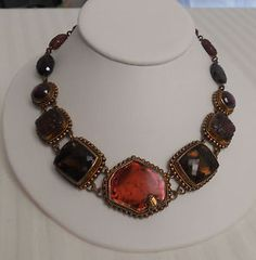 OOAK Signed Stephen Dweck $10,000 Pink Tourmaline Star Ruby Bronze Necklace    , ....Too expensive!