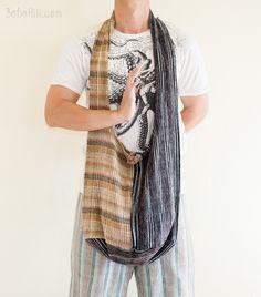 Unique Handwoven Purist Hippie Hobo Unisex Patchwork Monk Sling Shoulder Bag (MB-24)