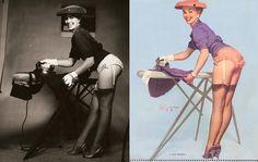 inspiration behind Gil Elvgren's 1950s pin up girls.