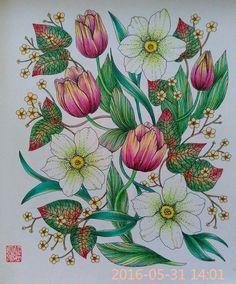 #mariatrolle #blomstermandalamålarbok #blomstermandala #adultcolouring #adultcoloring #adultcoloringbook #野の花のぬり絵ブック