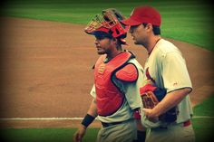 The boys are back in town- Yadier Molina & Adam Wainwright -my spring training pics 2012-St. Louis Cardinals