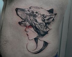 Wolf Girl Tattoo, Marla Moon, Madrid Spain