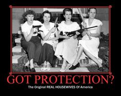 Feminine Protection at its finest. ;-)  If YOU'RE a Second Amendment SUPPORTER, Join us at Conservative Patriots of America -- here on facebook @: https://www.facebook.com/ConservativePatriotsofAmerica