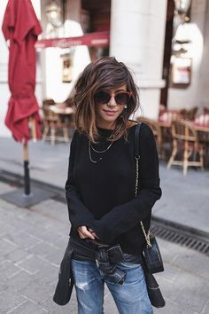 Hello girls, I& slowly but surely moving towards more outfits . Looks Style, Cut And Style, Cut And Color, Style Me, Mode Outfits, Casual Outfits, Medium Hair Styles, Curly Hair Styles, Corte Y Color