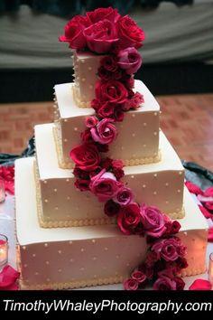 Flowers Fondant Square Topper Wedding Cake Wedding Cakes Photos & Pictures - WeddingWire.com