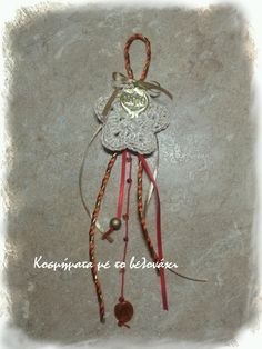lucky charm! Lucky Charm, Dream Catcher, Charmed, Christmas Ornaments, Holiday Decor, Crochet, Home Decor, Dreamcatchers, Decoration Home