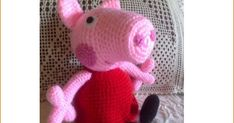 Peppa Pig Amigurumi Pattern (in Spanish) Peppa Pig Amigurumi, Peppa Pig Doll, Amigurumi Doll, Patron Crochet, Crochet Pig, Crochet Dolls, Amigurumi Patterns, Crochet Patterns, Crochet Projects