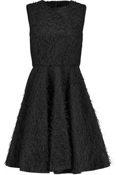 GIAMBATTISTA VALLI Bouclé Paneled Wool And Silk-Blend Crepe Dress. #giambattistavalli #cloth #dress