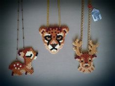 Strijkparels; bambi, tijger en hert