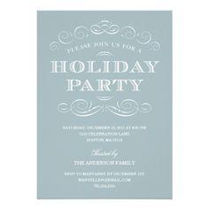CLASSY CHRISTMAS   HOLIDAY PARTY INVITATION