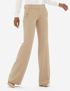 Luxe High Waist Modern Trouser Pants