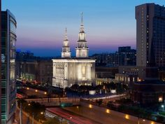 The Philadelphia Pennsylvania Temple at night - We just went to the open house, it was gorgeous