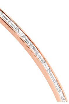 Anita Ko - Baguette Bangles 18-karat Rose Gold Diamond Bracelet - one size