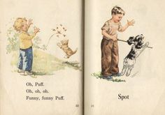 The Dick and Jane readers were used in many, many school systems to teach children to read from the 1930's to the 1970's.  Characters besides Dick and Jane included Mother, Father, the baby Sally, Spot the dog (Spot was a cat in the 1930's editions), Puff the cat and Tim the teddy bear.