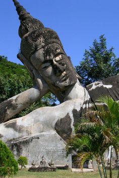 Buddha Park near Vientiane, Laos. #Buddhas #WorldBeautifulPlaces