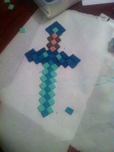 Fondant minecraft diamond sword