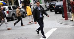 http://chicerman.com  billy-george:  Leather coat of winners. Loving the casual style.  Photo by George Elder  #streetstyleformen