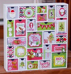 Advent calendar with Doodlebug Design Inc Blog: 12 Days of Christmas - Day 9 with Tiffany