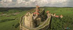 aerial Cetatea Rupea fortress Romania