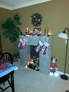 Made myself a fireplace out of cardboard church christmas made myself a fireplace out of cardboard church christmas decorations christmas fireplace decorations and navidad solutioingenieria Image collections