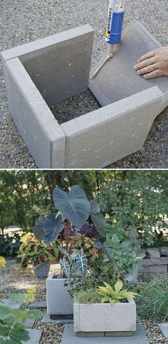 17 Awesome DIY Concrete Garden Projects – Barry Gardebled 17 Awesome DIY Concrete Garden Projects Stone PAVERS become stone PLANTERS. Cement planters can be so expensive. This is brilliant! We could also paint them! Concrete Planter Boxes, Stone Planters, Concrete Garden, Planter Ideas, Concrete Edging, Concrete Curbing, Diy Cement Planters, Paver Edging, Recycled Planters