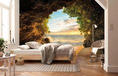 Mural Brewster Home Fashions Hide Out Wallpaper World, 3d Wallpaper Design, 3d Wallpaper For Walls, Paper Wallpaper, Photo Wallpaper, Designer Wallpaper, Wallpaper Ideas, Forest Wallpaper, Nature Wallpaper
