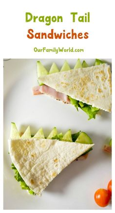 To celebrate the release of Pete's Dragon & back to school season, we made this clever little Dragon Tails Flatbread Sandwich recipe…